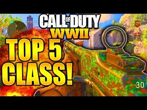 call of duty ww2 best class setup 2018