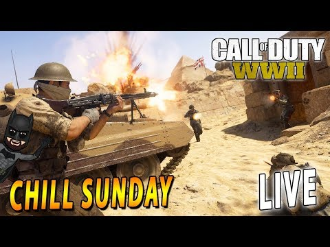 Chill Sunday Gaming Session | LIVE Call of Duty: WW2 | PS4
