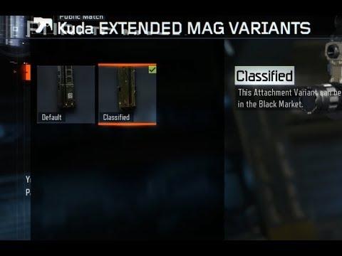 Black Market Attachment Variants for Free Glitch BO3